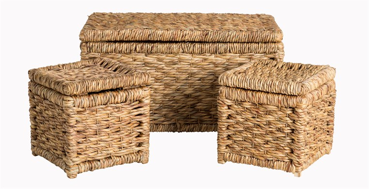 Water Hyacinth Toy Boxes